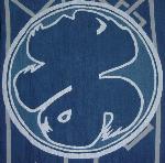 鏡藍返し(薄く藍染めし、糊伏せて藍染めを繰り返す