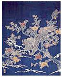 紺仁 筒描きタペストリーkt60